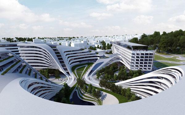 Plan v Zaha Hadid voor Belgrado