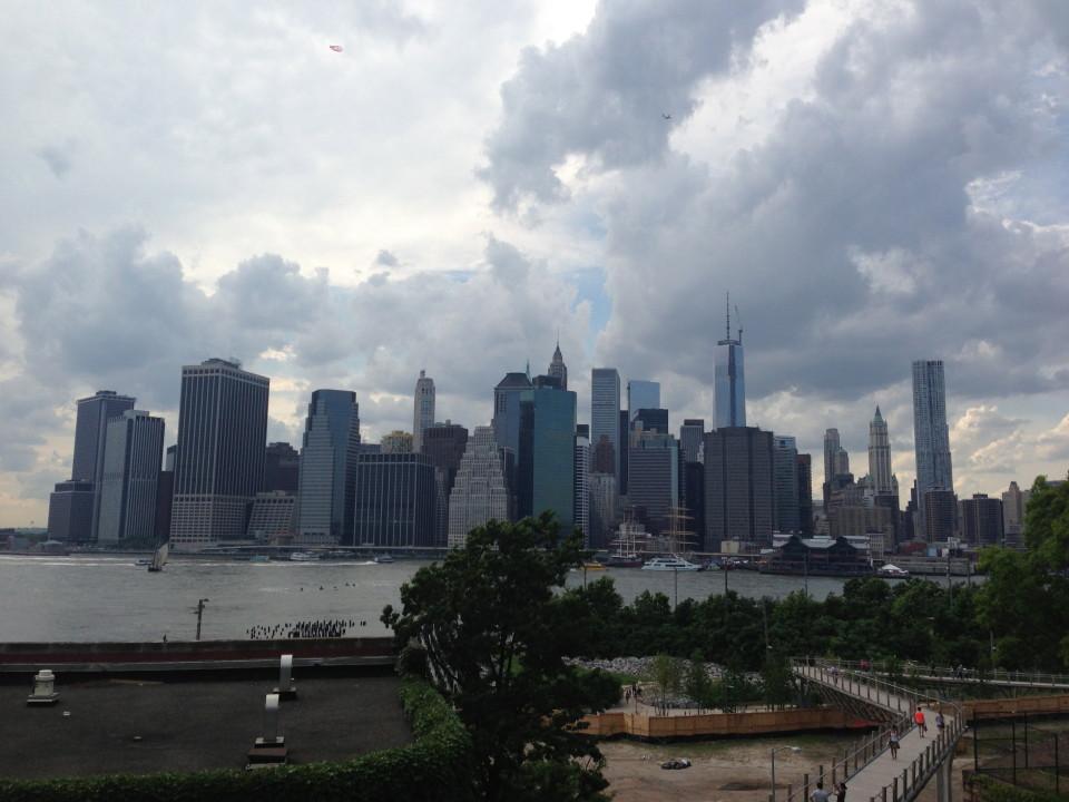 Uitzicht vanaf Brooklyn Bridge Park